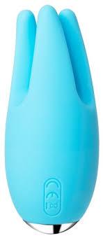 Купить <b>SVAKOM</b> Вибратор из силикона <b>Cookie</b> 9.6 см, голубой по ...