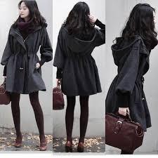 #<b>NEW Womens Slim</b> WOOL #Trench #Coat Parka Jacket Fashion ...