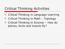 Critical thinking and creative thinking ppt   Order paper Bunting  Books  and Bright Ideas
