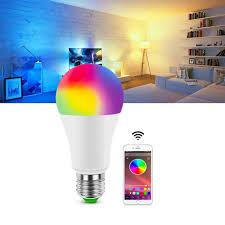 Bluetooth 4.0 Dimmable <b>LED Bulb</b> RGB <b>15W</b> AC85 260V <b>Wireless</b> ...