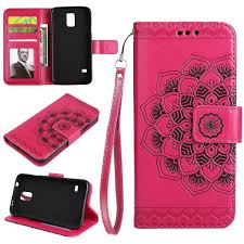 Flower Butterfly Pattern Premium <b>PU Leather Wallet Case</b> with Wrist ...