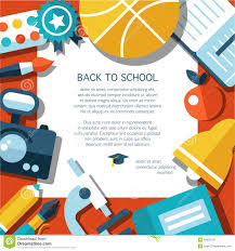 vector school flat design flyer template stock vector image vector school flat design flyer template