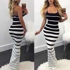 wyfeay SOLEDI® <b>2019</b> Hirigin Women <b>Summer Sexy Striped</b> Slim ...