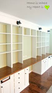 wall to wall built in desk and bookcase home is where my bookshelf file storage wall