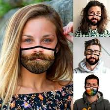 New Funny Face Printed Mask Unisex Adult Cotton Mouth ... - Vova