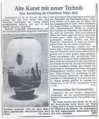 Walter Bahr – Alte Kunst mit neuer Technik | Galerie Glaswerk ... - bahr