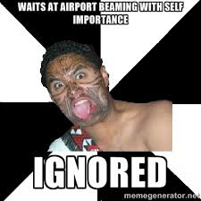 Waits at airport beaming with self importance ignored - New ... via Relatably.com