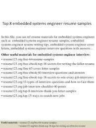 top 8 embedded systems engineer resume samples in this file you can ref resume materials system engineer resume sample