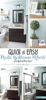 bathroom refresh: im so excited to share my quick amp easy rustic bathroom refresh with you my downstairs guest bathroom has been on my list of to dos forever