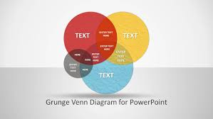 grunge venn diagram for powerpoint   slidemodelcreative grunge venn diagram design for powerpoint