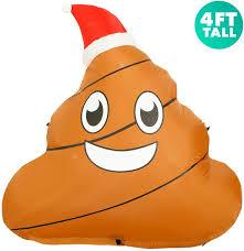 4 ft <b>Inflatable Christmas</b> Poop Outdoor <b>Decoration</b> with <b>LED Lights</b> ...