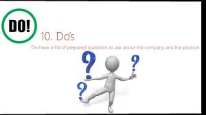 top 10 interview dos and don ts top 10 interview dos and don ts