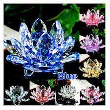 LARGE BIG CRYSTAL LOTUS <b>FLOWER ORNAMENT</b> WITH GIFT ...