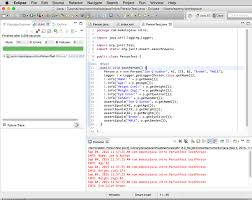 introduction to java programming part java language basics screenshot of eclipse running person as a java application