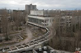 years of photographing chernobyl ap images spotlight this photo taken wednesday 23 2016 shows abandoned apartment buildings in the town