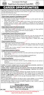 punjab board of investment trade careers 2015 pbit latest punjab board of investment trade careers 2015 pbit latest advertisement