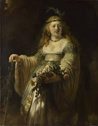 minerva in her study the leiden collection rembrandt van rijn flora saskia van uylenburgh in arcadian costume 1635 oil on canvas 123 5 x 97 5 cm national gallery london