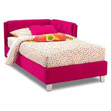 bedroomeasy the eye full corner bed value city furniture pink bag bedding set skirt bedroomeasy eye