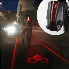 <b>Bicycle Laser Tail Light</b> LED Auto-Off Mountain Bike Riding Warning ...