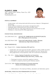 Ideas Of Sample Resume Philippines For Your Download Resume