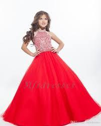 <b>New Hot</b> Halter White Gold Girls Pageant Dresses Flower Girl Dress ...