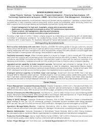 ba resume sample sample senior business analyst resume 25 cover letter template for resume business analyst sample sample resume of business analyst in banking