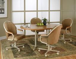 dining table with wheels: dining room cool chairs with caster wheels oak