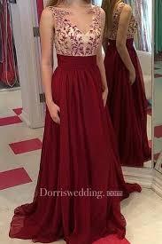 <b>Gorgeous</b> Burgundy Sleeveless <b>2018 Prom</b> Dresses Long <b>Chiffon</b> ...