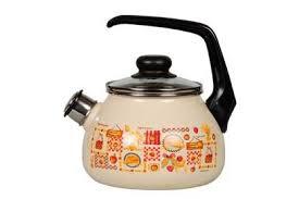 """<b>Чайник эмалированный со свистком</b> """"Садовая песня"""", 2 литра ..."""