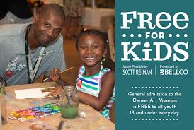 scott reiman sponsors admission for kids denver art museum general admission at the denver art museum is for kids ages 18 and younger