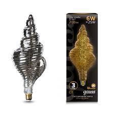 <b>Лампа Gauss</b> Led Vintage <b>Filament Flexible</b> TL120 6W E27 120 ...