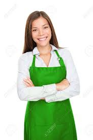small shop owner entrepreneur or s clerk standing happy small shop owner entrepreneur or s clerk standing happy and proud wearing apron young