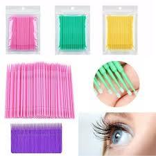 <b>100 Pcs Fashion</b> False eyelash glue remover Micro Brush ...
