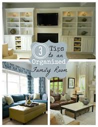storage solutions living room: clutter free tips organized family room clutter free tips