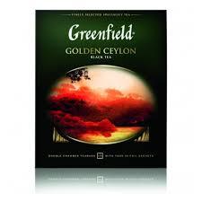 Чай GREENFIELD <b>Golden</b> Ceylon черный, 100 пак/уп — купить в ...