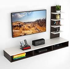 BLUEWUD Primax Engineered Wood <b>TV</b> Entertainment <b>Wall Unit</b> ...