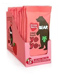 BEAR Real Fruit Snack Rolls - Gluten Free, Vegan ... - Amazon.com