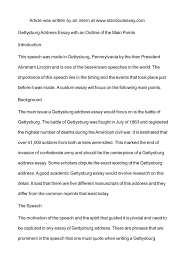 calam eacute o gettysburg address essay an outline of the main calameacuteo gettysburg address essay an outline of the main points introduction