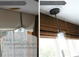 kitchen recessed charming lights shape ceiling lighting easily change a recessed light to a decorative hanging