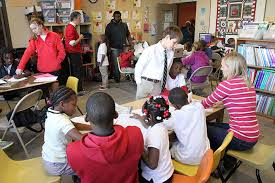 After arriving from school  the students and participants in Action Ministries Atlanta     s program for children Action Ministries