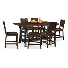 marble dining table adecc: newcastle counter height table and  chairs mahogany