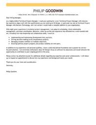 best technical project manager cover letter examples   livecareermore technical project manager cover letter examples