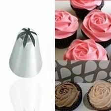 <b>2PCS</b> #2D <b>Large</b> Size Cupcake <b>Cream</b> Flower Piping Nozzle ...