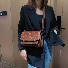 Bags for women <b>2019 new</b> fashion luxury <b>crocodile pattern</b> chain ...