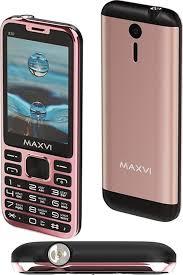 Мобильный <b>телефон MAXVI X10</b> Rose gold — купить в интернет ...