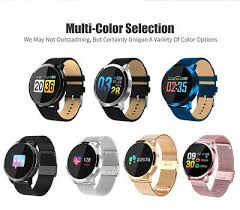 <b>Newwear Q8 Smart Watch</b> for iPhone Samsung Blood Pressure ...