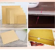<b>10pcs</b>/<b>lot 4</b> 6 8 10 12 14 Inch Square & Round White Golden Card ...