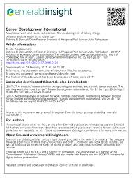 career development international ambition at work and career career development international ambition at work and career satisfaction the mediating role of taking charge behavior and the moderating role of pay