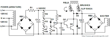 automatic voltage regulator  avr  for generatorsgenerator avr schematic diagram