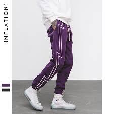INFLATION 2019 FW Stripe Screen Print Sweatpants <b>Streetwear</b> ...